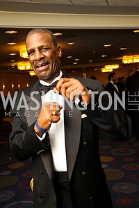 Photo by Tony Powell. Boxer Michael Spinks. Fight Night. Hilton Hotel. November 11, 2010