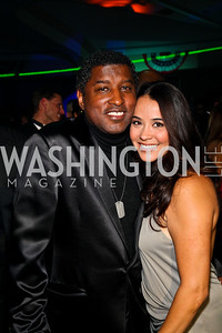 "Photo by Tony Powell. Kenneth ""Babyface"" Edmonds, Nikki Pantenburg. Fight Night. Hilton Hotel. November 11, 2010"