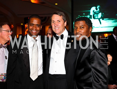 "Photo by Tony Powell. Hilton Hudson, Joe Robert, Kenneth ""Babyface"" Edmonds. Fight Night. Hilton Hotel. November 11, 2010"