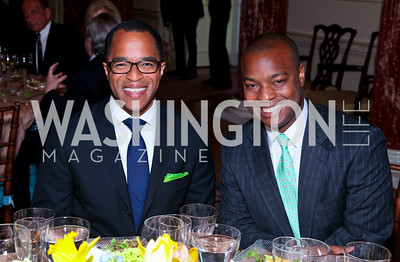 Jonathan Capehart, Ebs Burnough. FAPE Dinner. The Department of State. April 12, 2010. Photo by Tony Powell