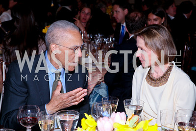 Artist Martin Puryear, FAPE President Eden Rafshoon. FAPE Dinner. The Department of State. April 12, 2010. Photo by Tony Powell