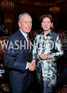 New York City Mayor Michael Bloomberg,  FAPE Chairman JoCarole Lauder. FAPE Dinner. The Department of State. April 12, 2010. Photo by Tony Powell