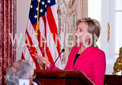 Secretary of State Hillary Clinton. FAPE Dinner. The Department of State. April 12, 2010. Photo by Tony Powell