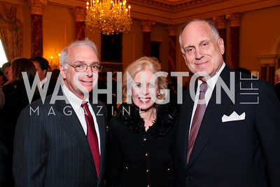 Lanny Edelsohn, Ann Nitze, Ronald Lauder. FAPE Dinner. The Department of State. April 12, 2010. Photo by Tony Powell