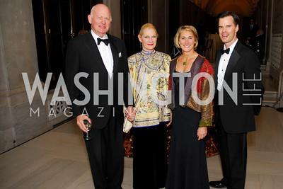 Michael Pillsbury, Susan Pillsbury, Kate Ziglar, George Rogers, Freer Sackler Gala, November 17, 2010, Kyle Samperton