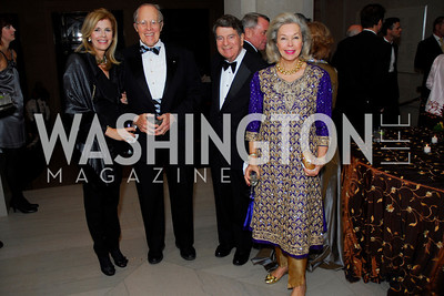 Jane Cafritz, Phillip Pillsbury, Calvin Cafritz, Nina Pillsbury, Freer Sackler Gala, November 17, 2010, Kyle Samperton