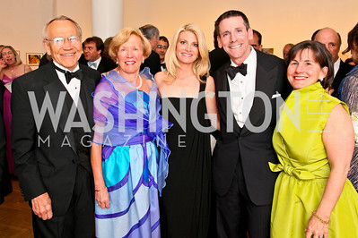 Keith and Janet Lindgren, Collette Bruce, Steven and Nancy Smith. Photo by Tony Powell. 55th Annual Corcoran Ball. April 16, 2010