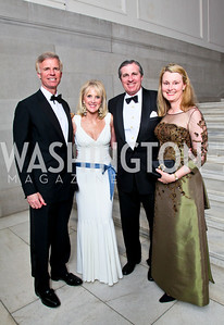 Fred Ryan, Laurie and Bob Monahan, Genny Ryan. Photo by Tony Powell. 55th Annual Corcoran Ball. April 16, 2010