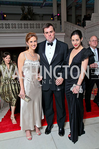 Betsy Fischer, Jonathan Martin, Rachel Cothran. Photo by Tony Powell. 55th Annual Corcoran Ball. April 16, 2010