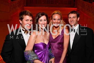 Ben and Sarah Wallerstein, Kathryn Minor, Geoff Jones. Photo by Tony Powell. 55th Annual Corcoran Ball. April 16, 2010