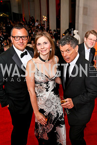 Manuel de Santaren, Ludmila and Conrad Cafritz. Photo by Tony Powell. 55th Annual Corcoran Ball. April 16, 2010