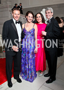 Jimmy Reyes, Taryn Fielder, Erin Barnes, Randy Brater. Photo by Tony Powell. 55th Annual Corcoran Ball. April 16, 2010