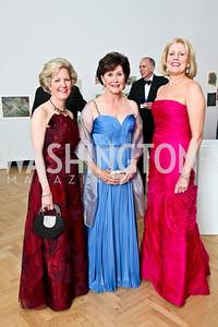 Molly Rolandi, Sally Chapoton, Saree Pitt. Photo by Tony Powell. 55th Annual Corcoran Ball. April 16, 2010