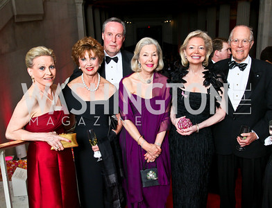 Vibeke Lofft, Jean Wolf, Paul Carp, Nina Pillsbury, Joan Carl, Philip Pillsbury. Photo by Tony Powell. 55th Annual Corcoran Ball. April 16, 2010