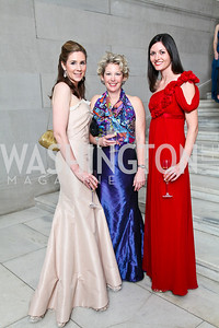 Ashley Sands, Kimberly Weiler, Jennifer Frost. Photo by Tony Powell. 55th Annual Corcoran Ball. April 16, 2010