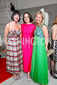 Kristin Guiter, Erin Barnes, Philippa Hughes. Photo by Tony Powell. 55th Annual Corcoran Ball. April 16, 2010