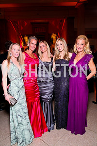 Cindy Jones, Carrill McKenzie, Sharon Bradley, Amy Donnelly, Susanna Quinn. Photo by Tony Powell. 55th Annual Corcoran Ball. April 16, 2010