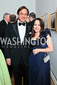 Edward Peters, Deborah Burney. Photo by Tony Powell. 55th Annual Corcoran Ball. April 16, 2010