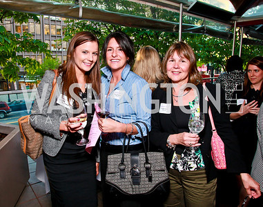 Lauren Erismas, Linsey Jorgenson, Debbie Sachs. Photo by Tony Powell. Georgetown Lombardi Women & Wine V. Morton's The Steakhouse. April 19, 2010