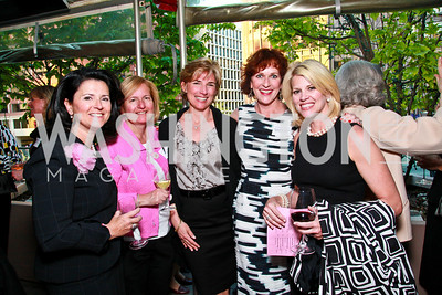 Janelle Lynch, Pat Gage, Mary Nagel, Elizabeth Shepard, Mary Shue. Photo by Tony Powell. Georgetown Lombardi Women & Wine V. Morton's The Steakhouse. April 19, 2010