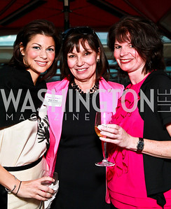 Jennifer Brittain, Molly Decker, Trish McHugh. Photo by Tony Powell. Georgetown Lombardi Women & Wine V. Morton's The Steakhouse. April 19, 2010