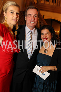 Photo by Alfredo Flores. Elizabeth de Kergorlay Mark Warner . An International Evening of Excellence In Honor of Global Kids in D.C. at the Residence of the French Ambassador. December 12, 2010