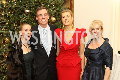 Photo by Alfredo Flores. Cindy Jones Mark Warner Elizabeth de Kergorlay Laura Bode . Michel Richard, Annie King Boutin . An International Evening of Excellence In Honor of Global Kids in D.C. at the Residence of the French Ambassador. December 12, 2010