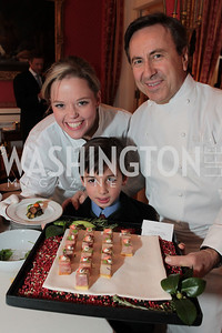Photo by Alfredo Flores. Katherine Gage Gabriel de Kergonlay Daniel Boulud . An International Evening of Excellence In Honor of Global Kids in D.C. at the Residence of the French Ambassador. December 12, 2010
