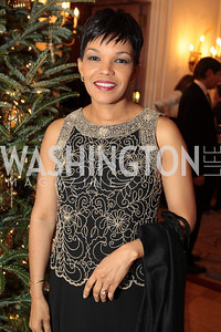 Photo by Alfredo Flores. Jamaica's Ambassador to the United States Audrey Marks . An International Evening of Excellence In Honor of Global Kids in D.C. at the Residence of the French Ambassador. December 12, 2010