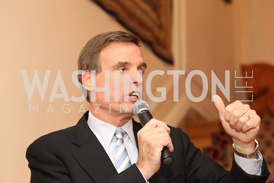 Photo by Alfredo Flores. Sen. Mark Warner. An International Evening of Excellence In Honor of Global Kids in D.C. at the Residence of the French Ambassador. December 12, 2010