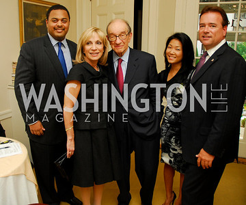 Kyle Samperton,May 27,2010, Nico Saunders,Andrea Mitchell.Alan Greenspan,Becky Lee,Chris Thompson, Glover Book Party