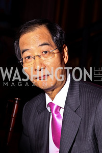 Photo by Tony Powell. Korea Amb. Han Duk-soo. Thanks A Million Gala. Mellon Auditorium. October 4, 2010