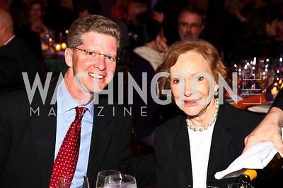 Photo by Tony Powell. HUD Secretary Shaun Donovan, Rosalynn Carter. Thanks A Million Gala. Mellon Auditorium. October 4, 2010