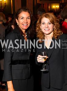 Photo by Tony Powell. Catherine Ostheimer, Lisa Tryson. Thanks A Million Gala. Mellon Auditorium. October 4, 2010