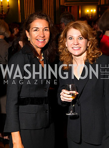 Photo by Tony Powell. Catherine Ostheimer, Lisa Tryson. Thanks A Million Gala. Mellon Auditorium. October 4, 2010