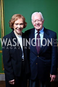 Photo by Tony Powell. Rosalynn and Jimmy Carter. Thanks A Million Gala. Mellon Auditorium. October 4, 2010