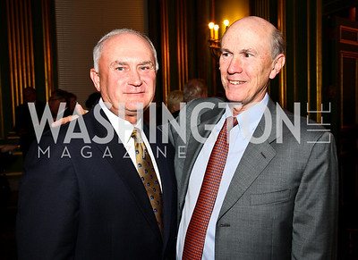 Photo by Tony Powell. Lowe's President and COO Larry Stone, Home Depot Chairman and CEO Frank Blake. Thanks A Million Gala. Mellon Auditorium. October 4, 2010