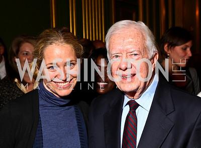Photo by Tony Powell. Nancy Reynolds Bagley, President Jimmy Carter. Thanks A Million Gala. Mellon Auditorium. October 4, 2010