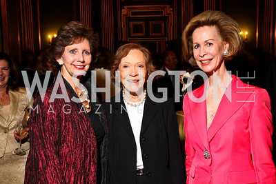 Photo by Tony Powell. Linda Fuller, Rosalynn Carter, Bonnie McElveen-Hunter. Thanks A Million Gala. Mellon Auditorium. October 4, 2010