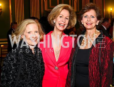 Photo by Tony Powell. Liz Blake, Bonnie McElveen-Hunter, Linda Fuller. Thanks A Million Gala. Mellon Auditorium. October 4, 2010