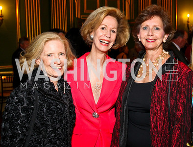 Photo by Tony Powell. Liz Blake, Bonnie McElveen-Hunter, Linda Fuller. Thanks A Million Gala. Mellon Auditorium. October 4, 2010