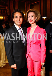 Photo by Tony Powell. Afghanistan Amb. Said Jawad, Bonnie McElveen-Hunter. Thanks A Million Gala. Mellon Auditorium. October 4, 2010