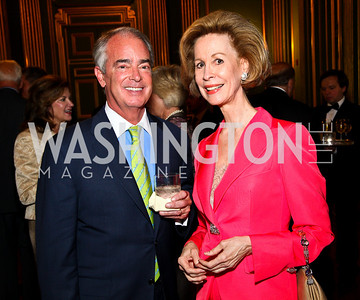 Photo by Tony Powell. Duke Energy CEO Jim Rogers, Bonnie McElveen-Hunter. Thanks A Million Gala. Mellon Auditorium. October 4, 2010