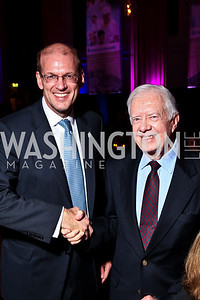 Photo by Tony Powell. Habitat for Humanity International CEO Jonathan Reckford, President Jimmy Carter. Thanks A Million Gala. Mellon Auditorium. October 4, 2010