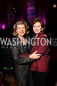 Photo by Tony Powell. Diana Negroponte, Linda Fuller. Thanks A Million Gala. Mellon Auditorium. October 4, 2010