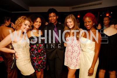 Emily Afton, Tanesha Ross, Nkrumah Gatling, Laura Dreyfuss, Lulu Fall, Hair Cast Party, October 28, 2010, Kyle Samperton