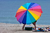 Beach umbrella at Hampton Beach