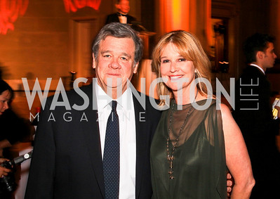 John Coale, Pulitzer Prize-winning Washington Post columnist Kathleen Parker. Photo by Tony Powell. Heart's Delight Vintners Dinner. Mellon Auditorium. May 7, 2010