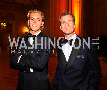 Maurits Sutorius, Alexander VanBeck. Photo by Tony Powell. Heart's Delight Vintners Dinner. Mellon Auditorium. May 7, 2010
