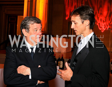John Coale, Robert Marshall. Photo by Tony Powell. Heart's Delight Vintners Dinner. Mellon Auditorium. May 7, 2010